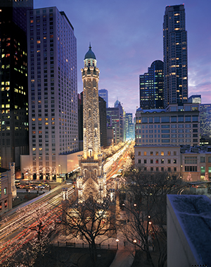Chicago's Historic Water Tower on Michigan Avenue, the Magnificent Mile